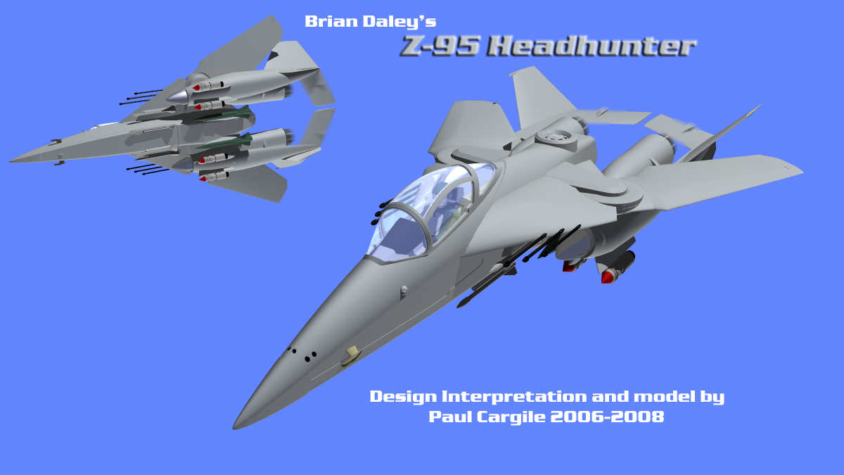 Brian Daley's Z-95 Headhunter 3D Model, Artwork by: Paul S Cargile